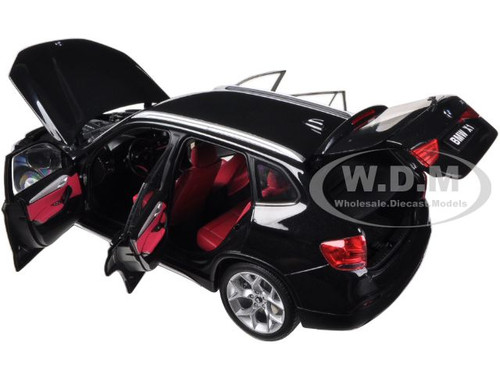 Diecast & Toy Vehicles KYOSHO 08791BKS BMW X1 xDRIVE 2.8i E84 SUV 1/18 BLACK SAPPHIRE with RED INTERIOR
