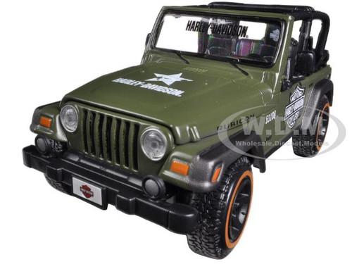 Jeep Wrangler Rubicon Harley Davidson Green 1/27 cast Model ...