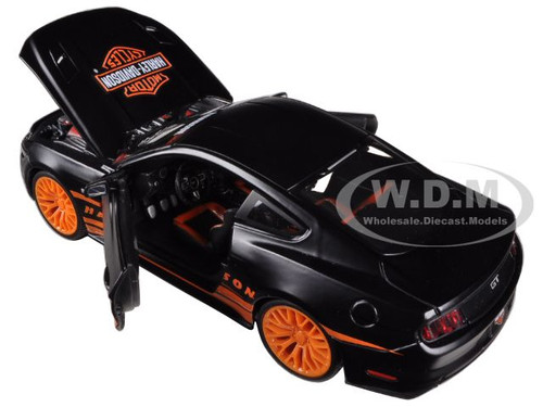 A//Line Design 2015 Ford Mustang GT Black scale 1:24 model car diecast toy car