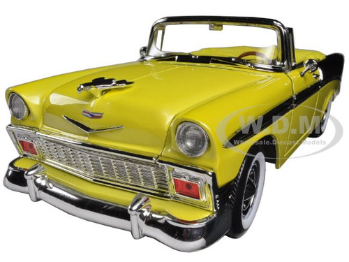 1956 chevrolet bel air convertible yellow black 1 18. Black Bedroom Furniture Sets. Home Design Ideas