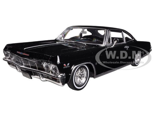1965 chevrolet impala black low rider 1 24 diecast model. Black Bedroom Furniture Sets. Home Design Ideas