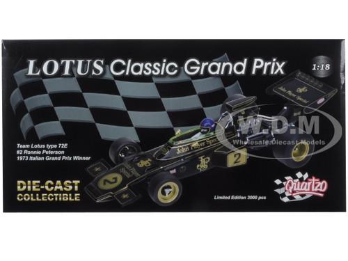 Lotus 72E JPS #2 Ronnie Peterson Winner Italian Grand Prix 1973 QUARTZO Q4025 1:43