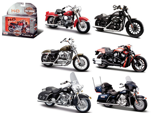 Harley Davidson Motorcycle 6pc Set Series 33 1/18 cast Model ...