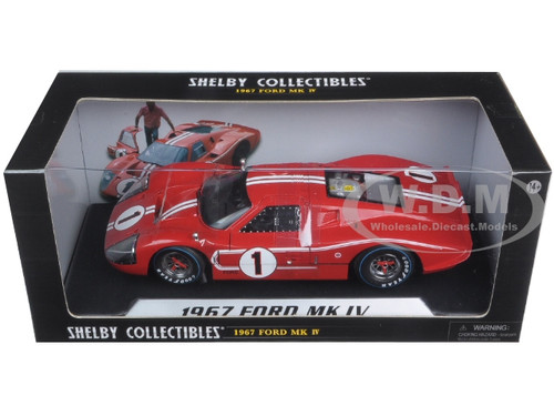 1967 FORD GT MK IV #1 RED LE MANS WINNER 1//18 DIECAST SHELBY COLLECTIBLES SC423
