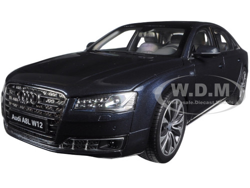Exceptionnel 2014 Audi A8 L W12 Moon Shine Blue 1/18 Diecast Model Car Kyosho 09232 MSB