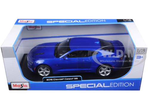 2016 Chevrolet Camaro SS Blue 1/18 Diecast Model Car ...
