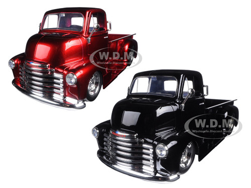 Big Truck Wheels 24 5 : Chevrolet coe pickup truck black red with chrome