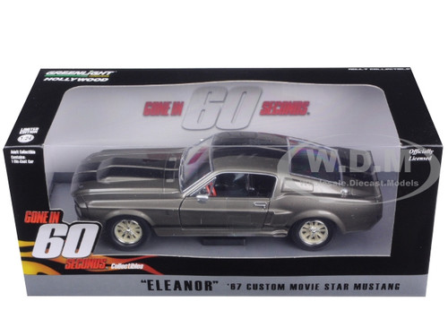 1967 ford mustang custom eleanor gone in 60 seconds movie 2000 1 24 diecast model car. Black Bedroom Furniture Sets. Home Design Ideas