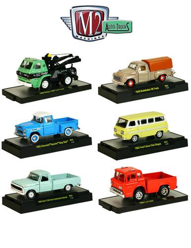 auto trucks 6 set release 34 in display cases 1 64 diecast. Black Bedroom Furniture Sets. Home Design Ideas