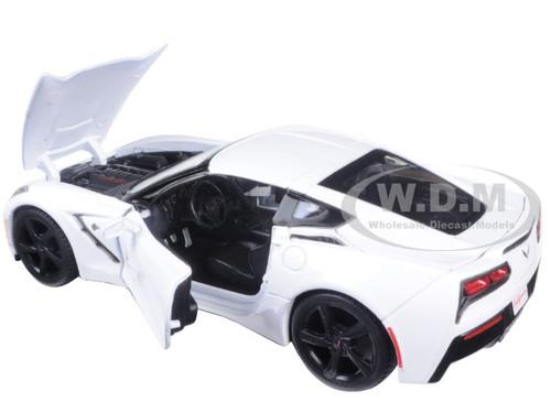 2014 Chevrolet Corvette C7 Stingray White 1//24 Diecast Model Car by Maisto 3 for sale online