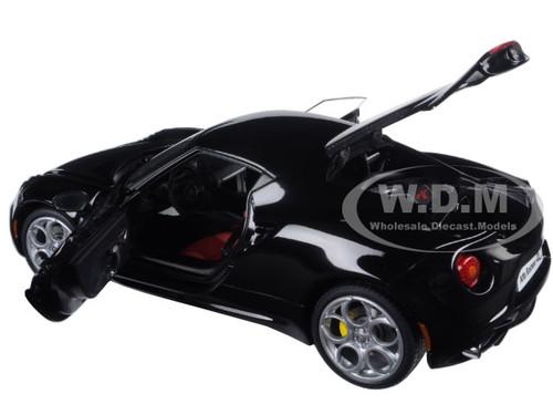 ALFA ROMEO 4C GLOSS BLACK 1//18 MODEL CAR BY AUTOART 70184