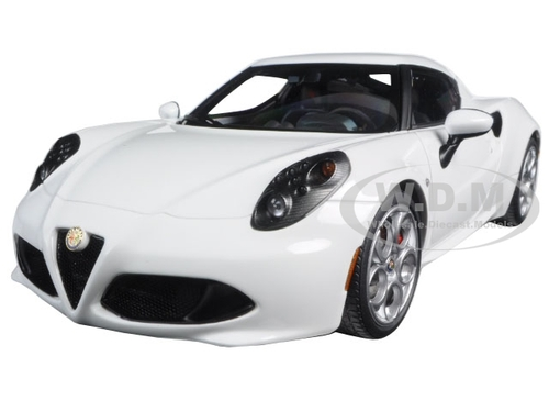 Alfa Romeo 4c White 1:18 Model 70185 AUTOART