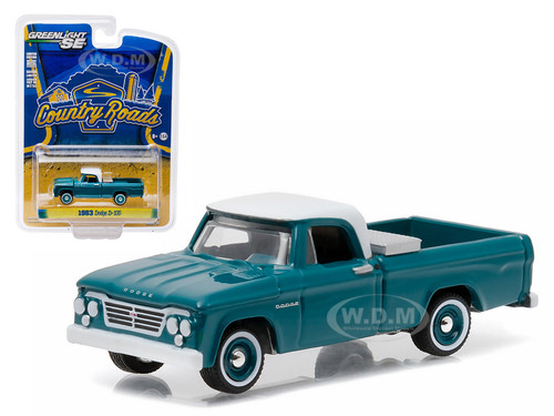 Dodge d 100 with toolbox pickup truck country roads series 14 164 1963 dodge d 100 with toolbox pickup truck country roads series 14 164 diecast model greenlight publicscrutiny Images