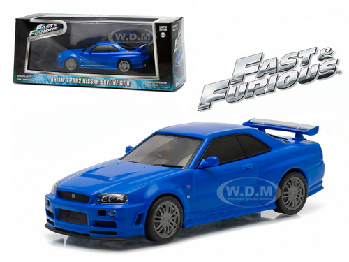 Brians 2002 Nissan Skyline Gt R Blue Fast And Furious Movie 2009