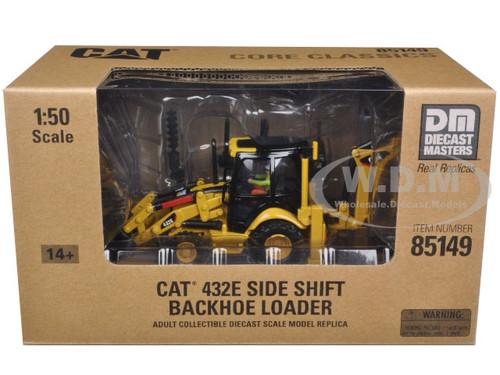 Caterpillar 1:50 Scale Diecast Model 432E Side shift backhoe loader 85149 CAT