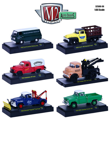 auto trucks 6 piece set release 36 in display cases 1 64 diecast model cars m2 machines 32500 36. Black Bedroom Furniture Sets. Home Design Ideas