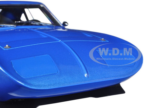 1969 DODGE CHARGER DAYTONA CUSTOM BLUE W// WHITE REAR WING 1//18 GREENLIGHT 19019