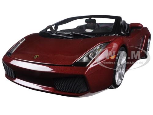 LAMBORGHINI GALLARDO SPYDER SILVER 1//18 DIECAST MODEL CAR BY MAISTO 31136