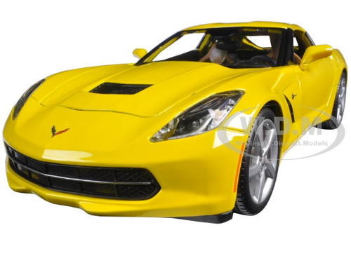 2014 Chevrolet Corvette C7 Stingray Yellow 118 Diecast Model Car