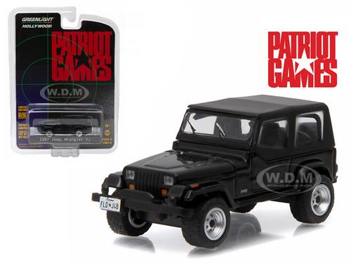 1987 jeep wrangler yj patriot games 1992 movie 1 64 diecast model car greenlight 44730 b. Black Bedroom Furniture Sets. Home Design Ideas