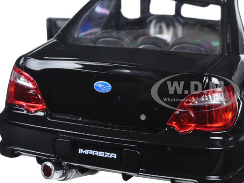 Subaru Impreza WRX STI Black 1/24 Diecast Model Car by Welly