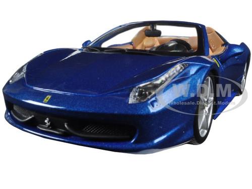 Ferrari 458 Spider Blue 1/24 Diecast Model Car Bburago 26017