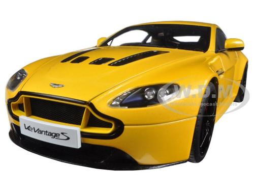 2015 Aston Martin V12 Vantage S Yellow 1 18 Diecast Model Car By