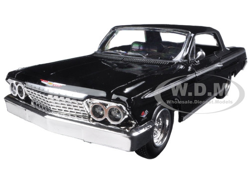 1962 chevrolet impala ss black 1 24 diecast model car new. Black Bedroom Furniture Sets. Home Design Ideas