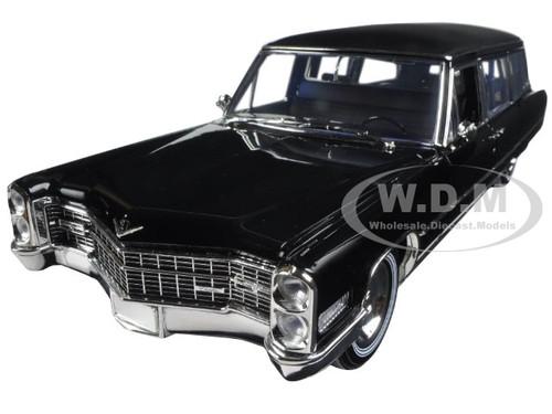 Greenlight 1966 Cadillac S/&S Limousine Black 1//18