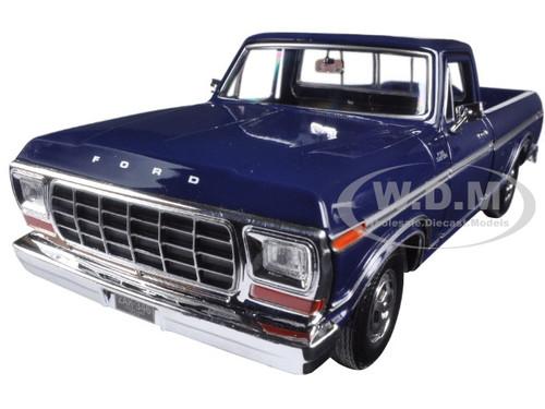 1979 FORD F-150 PICKUP TRUCK BLUE//CREAM 1//24 DIECAST MODEL CAR MOTORMAX 79346
