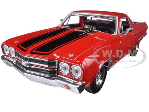 1970 Chevrolet El Camino Ss 396 Red 1 24 Diecast Model Car