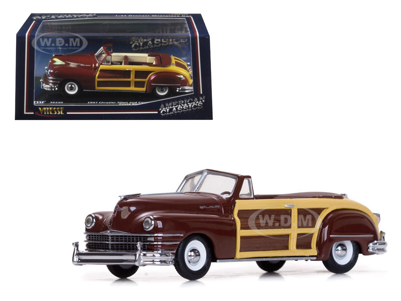 1947 chrysler town and country costa rica brown 1 43 diecast model car vitesse 36220. Black Bedroom Furniture Sets. Home Design Ideas