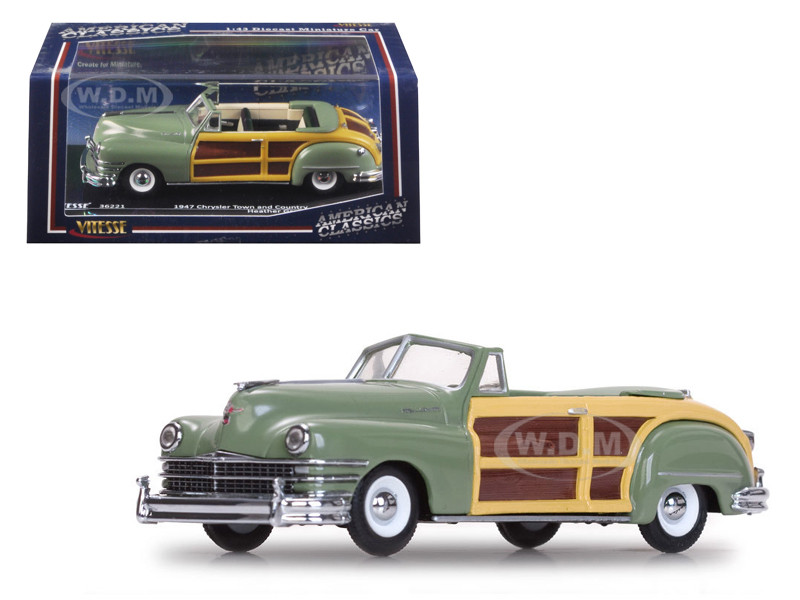 1947 chrysler town and country heather green 1 43 diecast model car vitesse 36221. Black Bedroom Furniture Sets. Home Design Ideas