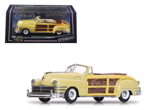 1947 chrysler town and country yellow lustre 1 43 diecast model car vitesse 36222. Black Bedroom Furniture Sets. Home Design Ideas