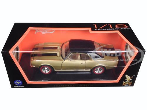 1967 CHEVROLET CAMARO Z//28 GOLD W//BLACK 1//18 DIECAST MODEL ROAD SIGNATURE 92188