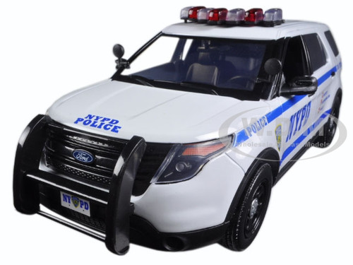 2015 ford police interceptor utility new york police nypd 1 18 greenlight 12973 812982024994 ebay. Black Bedroom Furniture Sets. Home Design Ideas