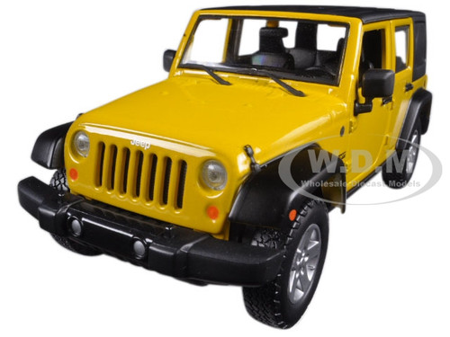 2015 jeep wrangler unlimited yellow 1 24 diecast model car maisto 31268. Black Bedroom Furniture Sets. Home Design Ideas