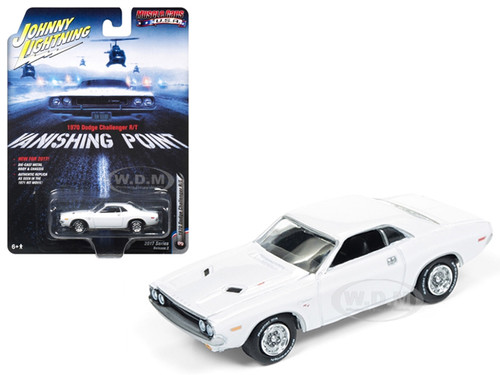"1970 Dodge Challenger R/T ""Vanishing Point"" Movie 1/64 Diecast Model Car Johnny Lightning JLCP6001"