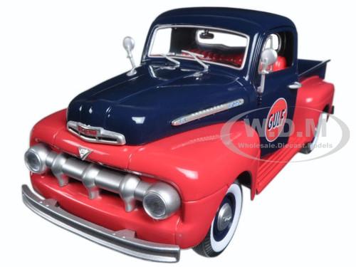 1951 Ford F-1 Pickup Truck Gulf Oil 1/18 Diecast Model Car Greenlight 12978