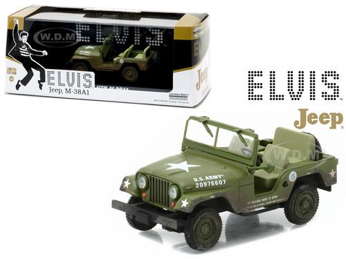 1963 US Army Jeep CJ-5 Elvis Presley (1935-1977) 1/43 Diecast Model Car Greenlight 86311