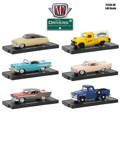 Drivers 6 Cars Set Release 39 In Blister Pack 1/64 Diecast Model Cars M2 Machines 11228-39
