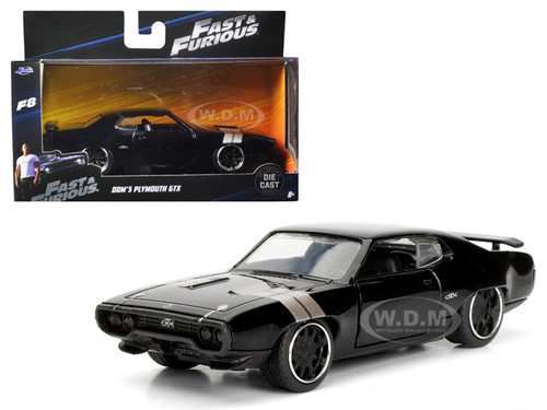 """Dom's Plymouth GTX Fast & Furious F8 """"The Fate of the Furious"""" Movie 1/32 Diecast Model Car Jada 98300"""