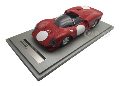 Ferrari 365 P2 Test Press Red with White Circle Version 1966 Limited Edition to 60pcs 1/18 Model Car Technomodel TM18-20H