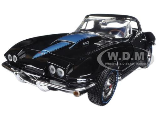1967 Chevrolet Corvette 427 Tuxedo Black (MCACN) Limited Edition 1/18 Diecast Model Car Autoworld AMM1099