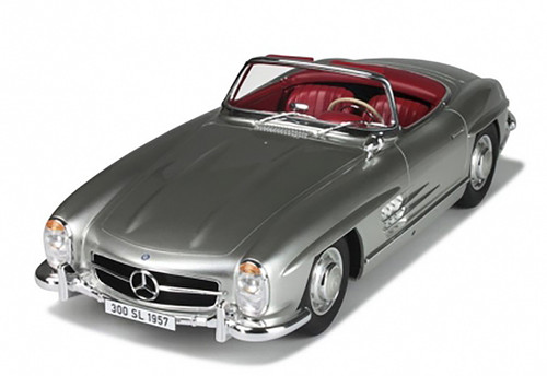 1957 Mercedes 300 SL Roadster Silver Limited Edition of 300pc 1/12 Model Car GT Spirit GT720
