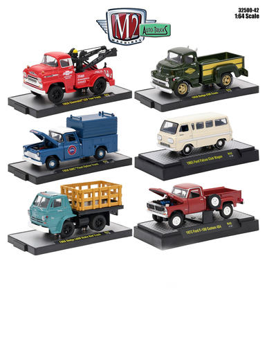 auto trucks 6 piece set release 42 in display cases 1 64 diecast model cars m2 machines 32500 42. Black Bedroom Furniture Sets. Home Design Ideas