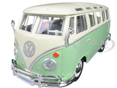 Volkswagen Van Samba Bus Green 1/25 cast Model Car Maisto 31956