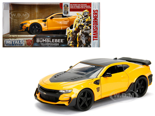"2016 Chevrolet Camaro Bumblebee Yellow From ""Transformers 5"" Movie 1/24 Diecast Model Car Jada Metals 98399"