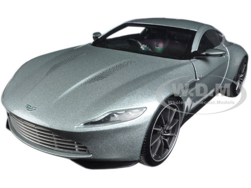 "Aston Martin DB10 Silver James Bond 007 From ""Spectre"" Movie Elite Edition 1/18 Diecast Model Car Hotwheels CMC94"