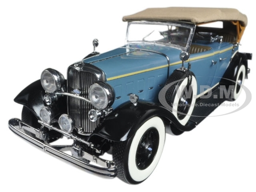 1932 ford lincoln kb top up blue 1 18 diecast model car. Black Bedroom Furniture Sets. Home Design Ideas